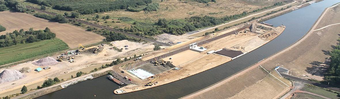 Baustelle Elbeu August 2013